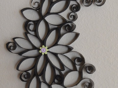 How To: Making Of Cute Wall Art Using Paper Rolls.