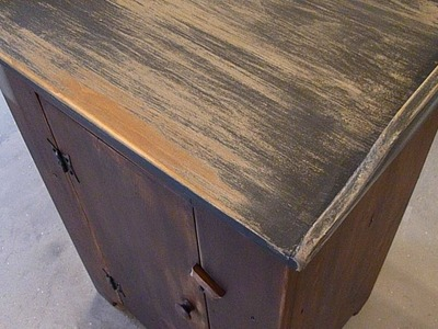 "Make A Rustic ""Washstand"" Bedside Table From Reclaimed Wood"