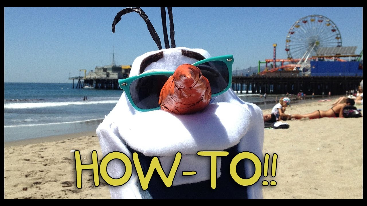 Make Your Own Olaf from Frozen! - Homemade How-to