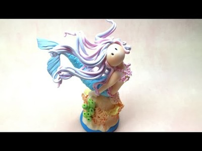Mermaid. Sereia - Polymer clay(Fimo) Tutorial