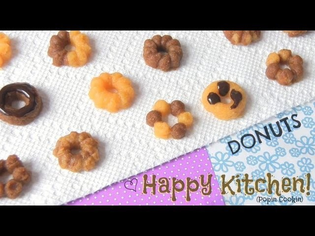 Mini Donut - How To - Kracie Happy Kitchen. Popin' Cookin' - Japanese Candy Kit