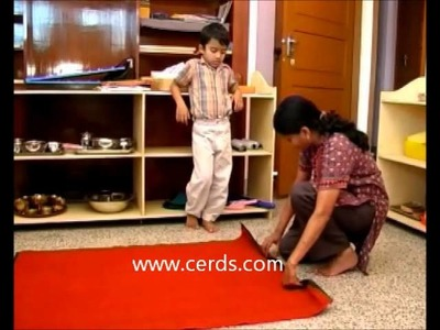 Montessori Activities in Practical Life - Rolling a Mat- by CERDS