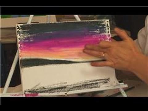 Oil Pastel Techniques : Using Pastels on Canvas
