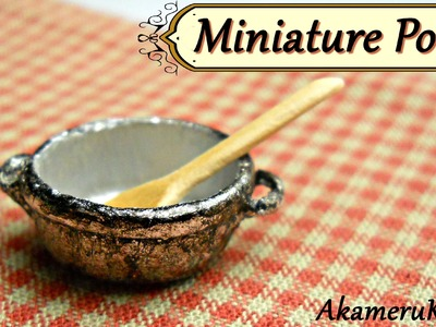 Old Miniature Pot - Polymer Clay tutorial