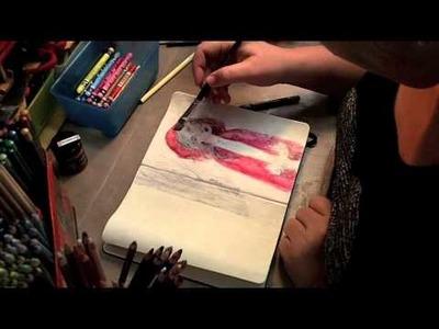 Painting Gel Transfer in Art Journal with Jane Davenport   Artomologist