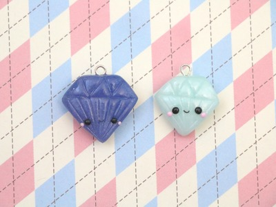 Polymer Clay Diamond Charm Tutorial