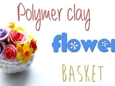 Polymer clay flower basket TUTORIAL
