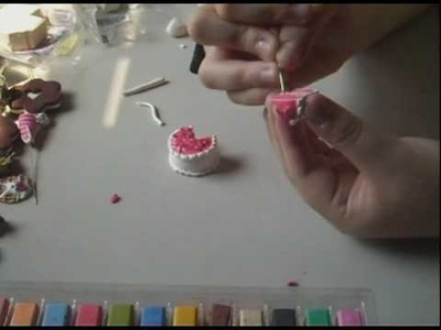 Polymer Clay Tutorial- Triple Layer Strawberry Cake
