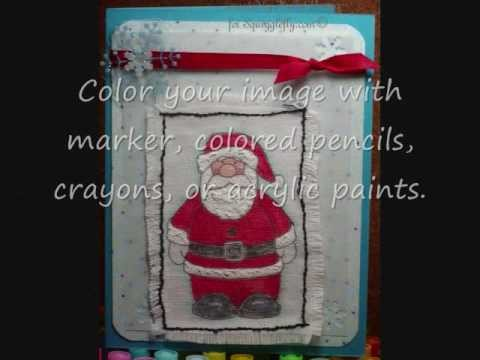 Printing Digital Images on Fabric for card making