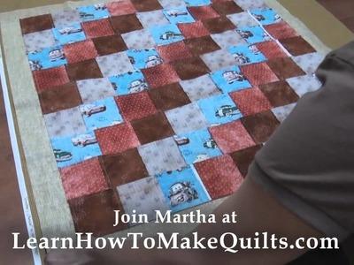 Quilt Making - Step 4 - Preparing Batting and Backing