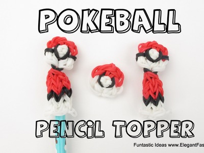 Rainbow Loom Pokeball Pencil Topper - How to- Pokemon