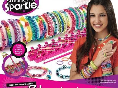 Shimmer n Sparkle Cra-Z-Loom Rubber Band Bracelet Maker Vs Rainbow Loom - KidToyTesters