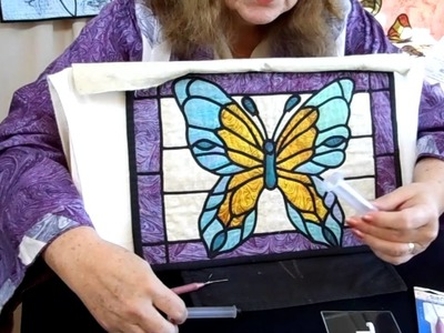 Stained Glass Quilting Technique with a different easy Applique
