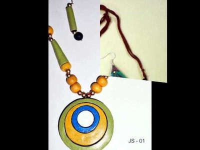 Terracotta Jewelry:- Necklace and earring set