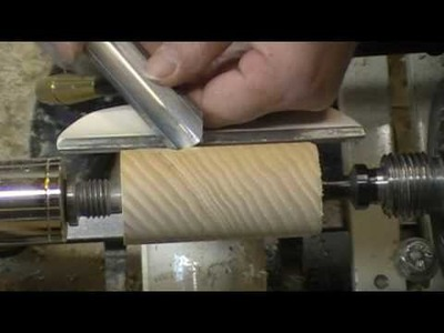 Turning a face grain spindle Segment 1 of 3