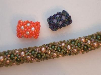 Tutorial perline (Netted): Come creare un tubulare Netted con perle incluse 2.2   Tutorial Perline