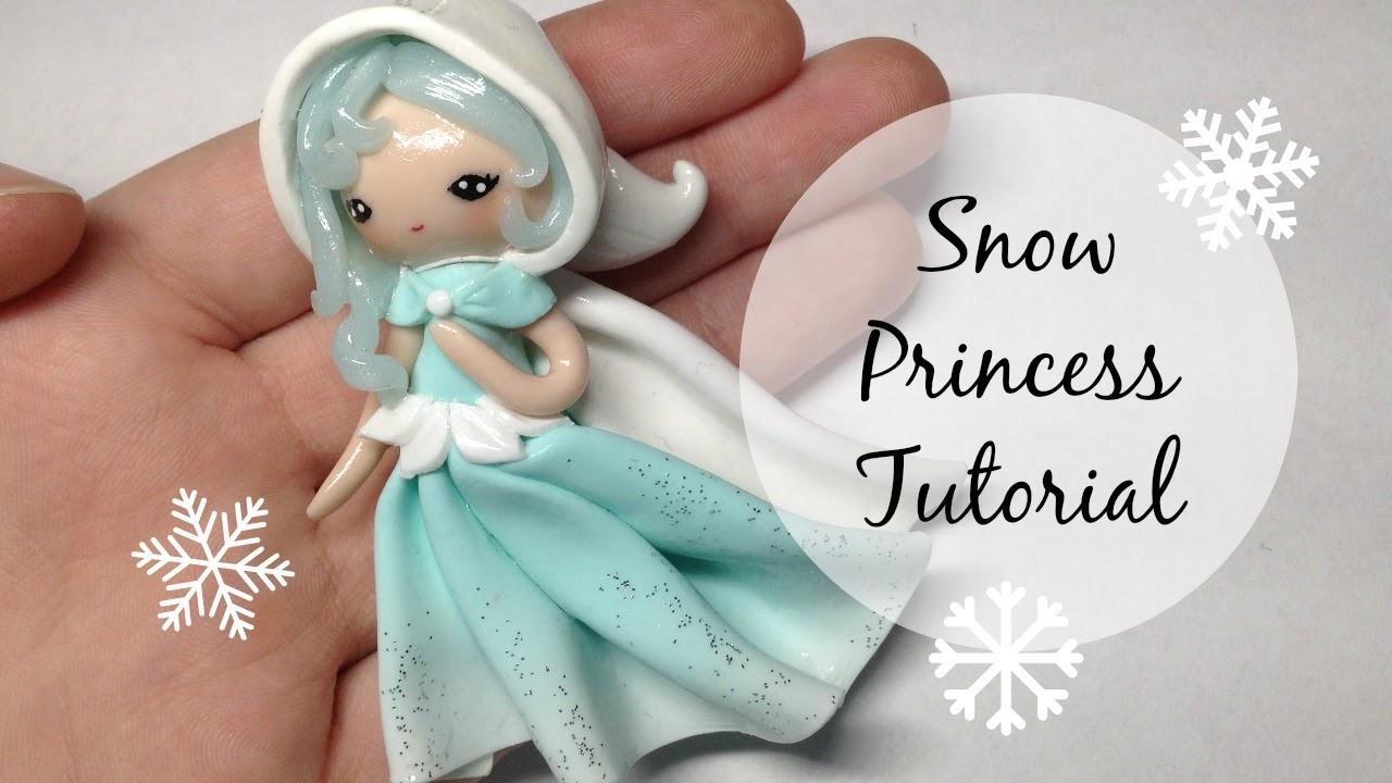 TUTORIAL: Polymer Clay Snow Princess Chibi