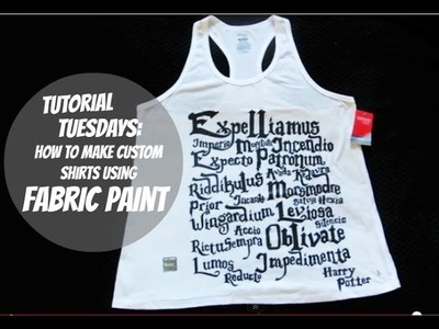 Tutorial Tuesday: How To Make Custom Shirts Using Fabric Paint - Harry Potter Edition
