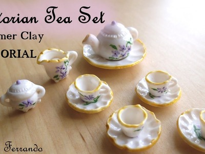Victorian Tea Party Part 1: Tea Set. Crockery - Polymer Clay TUTORIAL