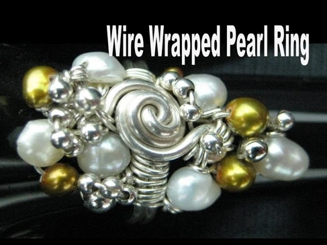 Wire Wrapped Pearl Ring | Liz Kreate