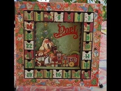Advent Calendar Tutorial - Altered Shadow Box Christmas Project #1