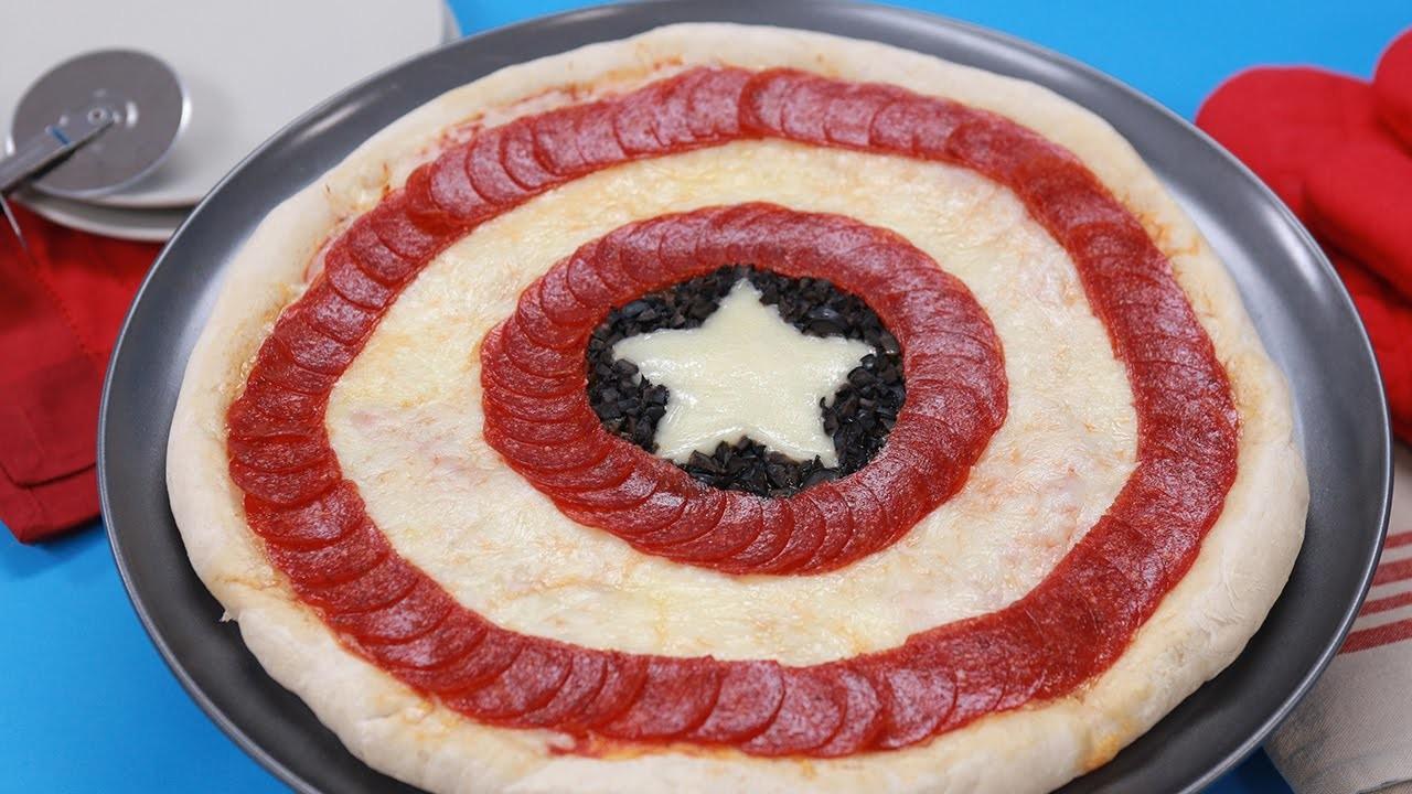 CAPTAIN AMERICA PIZZA - NERDY NUMMIES