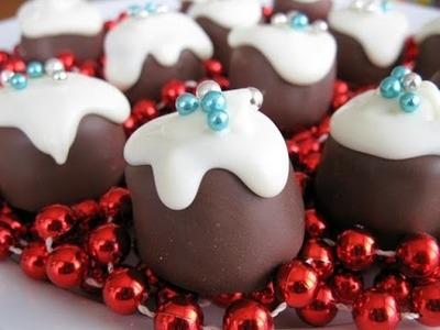 Christmas Marshmallow Puddings - RECIPE