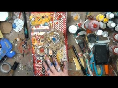 Christy Tomlinson Mixed Media Collage Art: October MM project 2012
