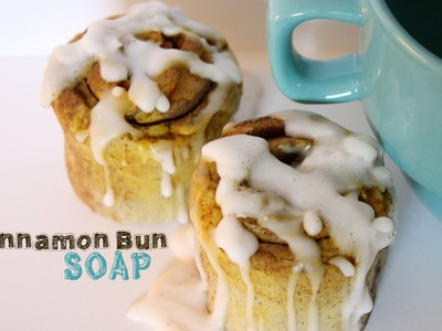 Cinnamon Bun Soap Tutorial - How To Make Dessert Soap