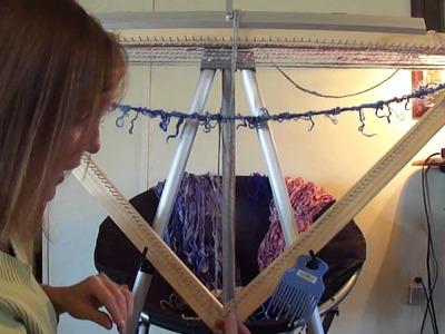 Continuous Strand Weaving On A Triangle Loom (part 3 of 3)