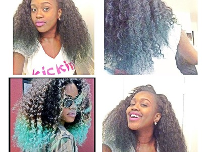 D.I.Y | Teyana Taylor Inspired Hair Tutorial | Blue & Green ombre