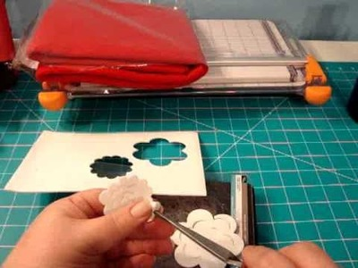 Day 10-Experiment with felt, foam and the 3D Flower Sizzix Die