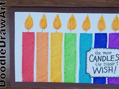 Drawing: How To Make a Birthday Card - Ideas for Birthday Wishes