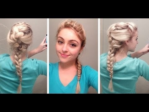 "Elsa hair tutorial from Disney's ""Frozen"""