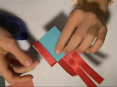 Episode 19- Ribbon Weaving Valentines card