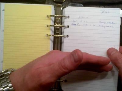Franklin Quest Zip binder, plus how I make it all work