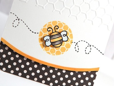 Friday Focus - Curved Edge Bee Card