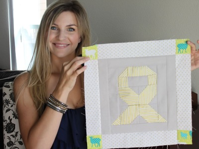 Fussycut and Sewing tutorial: Goin' Gold Childhood Cancer Awareness