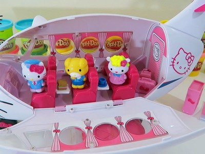 Hello Kitty Airline Playset With Hello Kitty, Jodie, Fifi, and Over 20 Accessories!