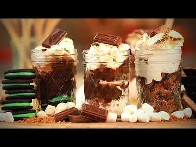 Homemade S'mores In A Jar! | Dessert Ideas | Just Add Sugar