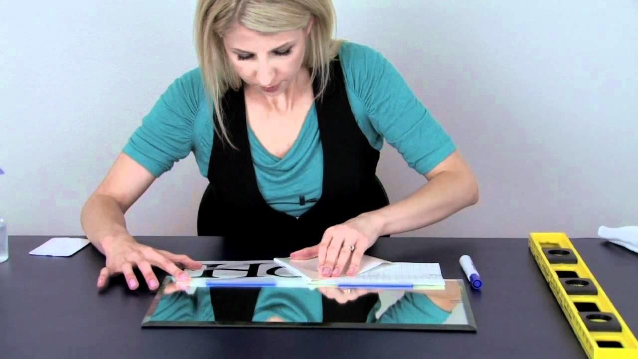 "How To Apply Vinyl Lettering Using the ""Wet Method"""