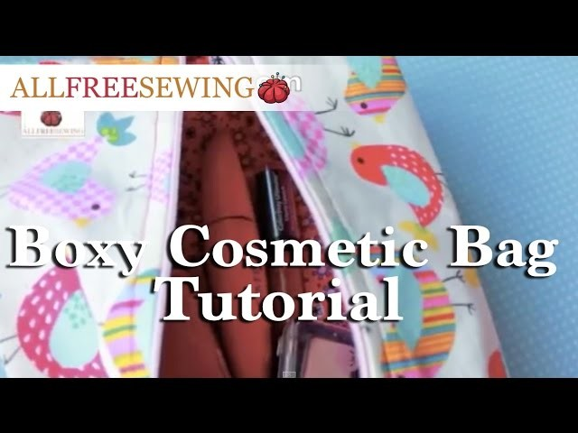 How To: Boxy Cosmetic Bag