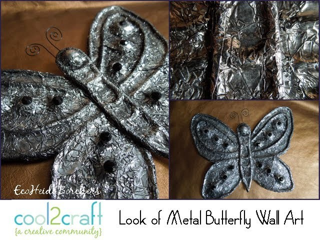How to Create the Look of Metal with Kitchen Foil by EcoHeidi Borchers