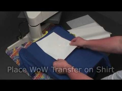 How to decorate a black.coloured TShirt with TheMagicTouch® WoW 7.2 Transfer Paper