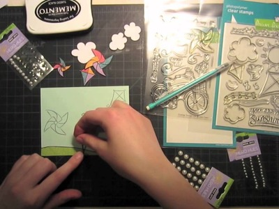 How to make a card from start to finish { Lawn Fawn }