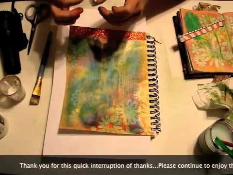 """How To Make A MIXED MEDIA ART JOURNAL Page - """"My Art Journey"""""""