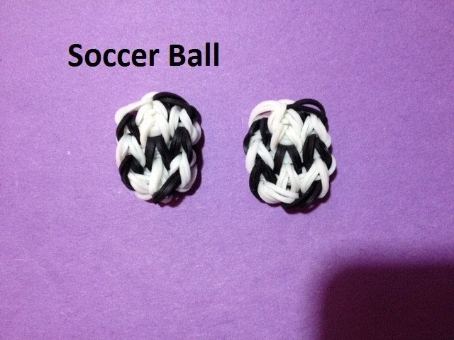 How to Make a Soccer Ball Charm on the Rainbow Loom - Original Design