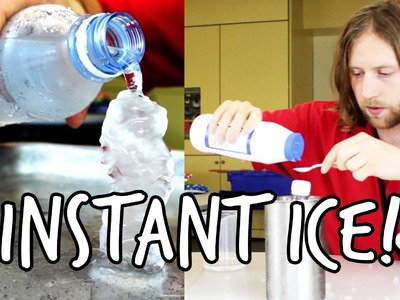 How to make instant ice | Do Try This At Home! | At-Bristol Science Centre