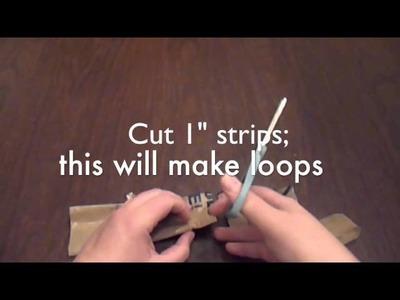 How to Make Plastic Yarn (Plarn) 2 ply
