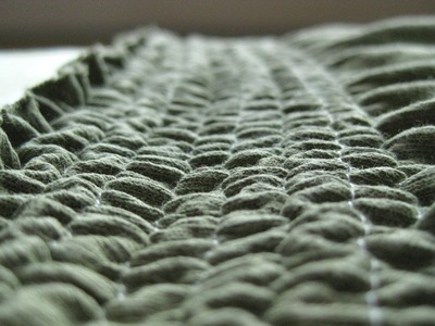 How to Shirr with Elastic Thread: Shirred Skirt Waistband Tutorial